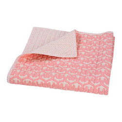 DwellStudio Kids Quilted Organic Mix & Match Play Blanket Filigree Blossom - With all of the swaddling, covering, and cuddling, a simple blanket becomes an intricate part of your baby's nursery decor. I love this sweet one for its supple quilted softness and modern chic.