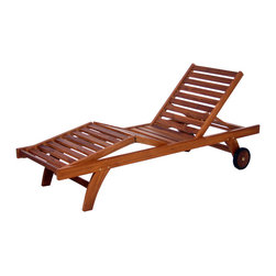 All Things Cedar - All Things Cedar TL78 Mult-position Chaise Lounger - Mult-position Chaise Lounger With Knock Down Design    4 lounge positions  4 leg comfort settings  rubber lined 5 inch wheels  pull-out side table      Chaise Lounge Cushion  (TC70) sold separately - available in 3 colors  Dimensions:   24 x 78 x 13 in. (w x d x h)