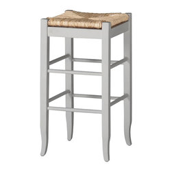 "Boraam - Boraam Square Rush 29"" Stationary Bar Stool in White - Boraam - Bar Stools - 94329 - Boraam's high quality products are well styled and priced right. Benefitting from years of experience in the industry. Boraam knows what you look for in quality furniture and takes pride in getting orders out as diligently as possible. Feel confident that Boraam will take your living space to another level."