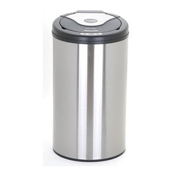 Nine Stars - Nine Stars 13.2-gallon Stainless Steel Motion Sensor Trashcan - Hide your garbage with this 13.2-gallon modern motion sensor trash can from Nine Stars that features a modern stainless-steel design. You never have to worry about dropping things when trying to open the lid,with the infrared touchless technology.