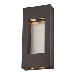 The Great Outdoors - The Great Outdoors 72372-615B 4 Light ADA Compliant Outdoor Wall Sconce from the - Four Light Outdoor Wall Sconce from the Geox CollectionFeatures: