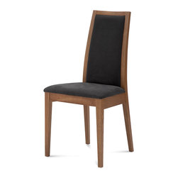 DomItalia Furniture - Topic Modern Dining Chair in Walnut / Black (Set of Two) - Made in Italy mission and a design that makes cleaning and comfort its fixed points, are among its core values. Topic Modern Dining Chair in Walnut / Black offers innovative and original look. It is designed for home and spaces creatively open to new trends.