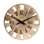 "Factory Direct Wall Decor - Small Roman Retro Wall Clock - This Small Roman Retro Clock adds a contemporary design to any wall. This is a 14""W x 14""H x 2"" in Depth. This item weighs approximately 5 lbs, and requires one AA battery."