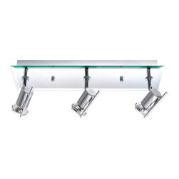 Eglo - Eglo 90685A 3 Light Semi-Flush Ceiling Fixture from the Tamara Collection - (Bul - Eglo 90685A Tamara 3 Light Semi-Flush Ceiling FixtureFor those craving a sleek ultra-modern design, this semi-flush ceiling fixture from the Tamara Collection is complemented by Chrome hardware that will bring out the beauty and sophistication of any décor This dynamic fixture can be mounted as a ceiling fixture or a wall sconce.Eglo 90685A Features: