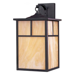 Maxim - Maxim Coldwater EE One Light Burnished Honey Glass Wall Lantern - This One Light Wall Lantern is part of the Coldwater Ee Collection and has a Burnished Finish and Honey Glass. It is Wet Rated, Outdoor Capable, and Energy Star Compliant.