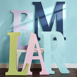 Harper Painted Letters - Spell out your child's name or a sweet message, or create a fun and educational ABC display in the nursery or playroom with our oversized letters. Each one is crafted to last and painted by hand with a shiny satin finish.