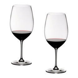 "Riedel - Riedel Vinum XL Cabernet Sauvignon Glasses - Set of 2 - This glass excels in the flawlessly blending together the wines aroma's and flavours, bringing to light brilliant concentration, whilst harmonising the intense sweet dark red fruit, integrating the tannins and masking the alcohol. Georg Riedel: ""For me, this is the new benchmark glass when it comes to the enjoyment of young wines composed of the Bordeaux varietals"""