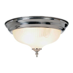 AF LIGHTING - Decorative Ceiling Fixture, Brushed Nickel - This decorative ceiling fixture offers value, quality, and the modern appeal of a brushed nickel finish. It uses two 75-watt medium based bulbs (not included).