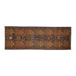 Manhattan Rugs - Tank Dz Tribal Hand Knotted Oriental Runner 3 X 9 Handmade Wool Persian Rug P775 - This is a true hand knotted oriental rug. it is not hand tufted with backing, not hooked or machine made. our entire inventory is made of hand knotted rugs. (all we do is hand knotted)