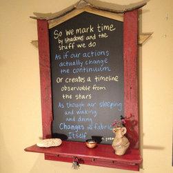 Hashimoto Chalkboard - Hashimoto Home Base Chalkboard Framed with Shelf and Key Hooks