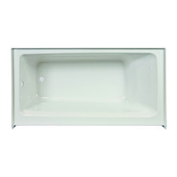 """Jacuzzi - Jacuzzi J1S6030BRXXXXW White Signature 60"""" x 30"""" Signature Three Wall - 60"""" x 30"""" Signature Three Wall Alcove Soaking Bathtub with Right Drain, Tiling Flange, and Skirt Jacuzzi  J1S6030 BRX XXX Features:  Constructed of quality, high gloss acrylic, with best-in-class surface finish Made to fit standard installations Wide 3"""" deck to accommodate a shower rail Slip resistant, textured bottom 25 degree lumbar slope contoured backrest Integral tile flange for speed and ease in alcove installations Tub skirt included  Jacuzzi  J1S6030 BRX XXX Specifications:  Overall Dimensions: 60"""" L x 30"""" W x 20-1/4"""" H Basin Dimensions: 43"""" L x 19"""" W Overflow Height: 15-1/4"""" Drain Placement: Right Installation Type: Three Wall Alcove Tile Flange Included: Yes Material: Acrylic Product Weight: 69 lbs."""