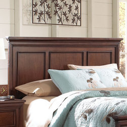"Welton - Heritage Oak Panel Headboard - The transitional design of the ""Heritage Oak"" makes any bedroom an inviting place. Features a picture frame design, in a rich finish with slight burnishing. You will love coming home to the style and sophistication of the ""Heritage Oak"". Features: -Wood solids and oak veneers construction.-Medium Oak finish.-Heritage Oak collection.-Gloss Finish: Yes.-Solid Wood Construction: No.-Powder Coated Finish: No.-Hardware Material: Metal.-Non Toxic: Yes.-Scratch Resistant: No.-Joinery Type: Metal to metal insersts.-Adjustable Height: No.-Wood Molding: Decorative solid wood moldings.-Reversible: No.-Media Outlet Hole: No.-Built In Outlets: No.-Handle Design: Traditional pull.-Hardware Finish: Antique bronze.-Finished Back: Yes.-Distressed: Yes.-Hidden Storage: No.-Freestanding: No.-Frame Required: Yes.-Frame Included: No.-Drill Holes for Frame: Yes.-Frame Compatibility (Size: Queen): Standard Queen Frame.-Frame Compatibility (Size: King): Standard King Frame.-Swatch Available: No.-Eco-Friendly: Yes.-Commercial Use: No.-Recycled Content: No .Specifications: -FSC Certified: No.-EPP Compliant: No.-CPSIA or CPSC Compliant: Yes.-CARB Compliant: Yes.-ISTA 3A Certified: Yes.-PEFC Certified: No.-General Conformity Certificate: Yes.-Green Guard Certified : No.Dimensions: -Overall Height - Top to Bottom (Size: King, Queen): 56.5"".-Overall Depth - Front to Back (Size: King, Queen): 2.75"".-Overall Product Weight (Size: Queen): 65 lbs.-Overall Product Weight (Size: King): 82 lbs.-Leg Height (Size: King, Queen): 5.75"".-Leg Width - Side to Side (Size: King, Queen): 3.5"".-Leg Depth - Front to Back (Size: King, Queen): 1.5"".-Top of Headboard to Bed Frame (Size: King, Queen): 49.5"".-Bottom of Headboard to Floor (Size: King, Queen): 25"".Assembly: -Assembly Required: Yes.-Tools Needed: Allen wrench.-Additional Parts Required: No .Warranty: -Product Warranty: 1 Year."