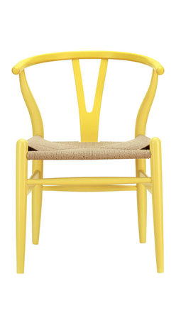 East End Imports - Amish Chair Yellow - This dining chair features traditional wood paired with modern design, resulting in a unique piece for your home.