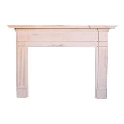 British Traditions - Fluted Column Fireplace Mantle (Driftwood) - Finish: Driftwood. Each finish is hand painted and actual finish color may differ from those show for this product. Fireplace mantle. Opening 48.5 in. W x 37 in. H. 74.75 in. W x 8.5 in. D x 52.5 in. H (64 lbs.)This piece has fluted columns at the side and and a generous mantle. The opening size can be customized if necessary.