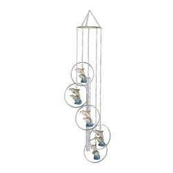 GSC - Wind Chime 5-Ring Polyresin Charm Dolphin Hanging Garden Decoration - This gorgeous Wind Chime 5-Ring Polyresin Charm Dolphin Hanging Garden Decoration has the finest details and highest quality you will find anywhere! Wind Chime 5-Ring Polyresin Charm Dolphin Hanging Garden Decoration is truly remarkable.