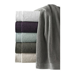 Luxor Linens - San Regis Turkish Towel Set, 3-Piece, Wine - Piece dyed jacquard border.