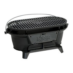 LODGE MFG CO - Hibachi Iron Sportsman Grill - Features: