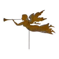 Rustica Ornamentals - Rustic Christmas Angel, Garden Stake - This Handcrafted Rustic Angel is a charming and fun way to add style to your home or garden decor.