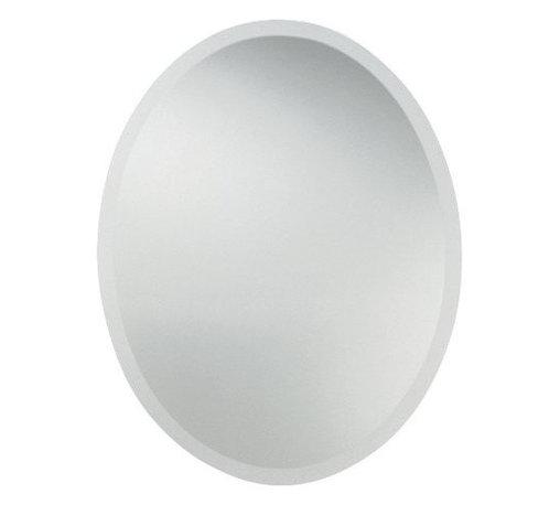 Uttermost - Uttermost 19580 22-Inch by 28-Inch Frameless Vanity Oval Mirror - Frameless beveled oval.