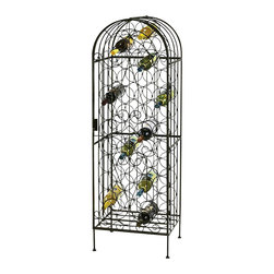 Howard Miller - Howard Miller Wrought Iron Wine Storage Arbor in Warm Gray Finish - Howard Miller - Wine Racks - 655146 - For over 70 years Howard Miller has understood the need to create products that are steeped in quality and value and to never expect anything less than the best. No matter the price of the purchase you have Howard Miller?s assurance of quality that is reflected in both the products they create and in the people whose artistic talents they rely on to manufacture them. Incomparable workmanship. Unsurpassed quality. A quest for perfection
