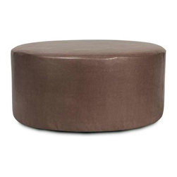 """Howard Elliott Avanti Pecan Universal 36"""" Round Cover - Avanti 36"""" Rounds are the perfect blend of downtown style and uptown sophistication. This luxurious faux leather fabric will entice your fashion senses with its supple leather look and feel. Velcro fasteners and tailored design make it so you would never know this piece is slipcovered. Cleaning and updating is a breeze, change your look on a whim with new covers!"""