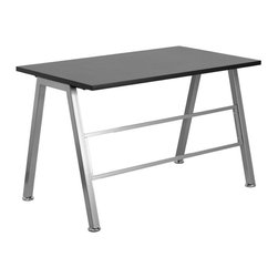 Flash Furniture - Flash Furniture High Profile Desk in Black - Flash Furniture - Computer Desks - NANJN2804WGG - The High Profile Desk will make your office space look like you've spent twice as much with its modern appeal! The sturdy leg design and decorative and stabilizing cross bar adds to the appeal of this desk.