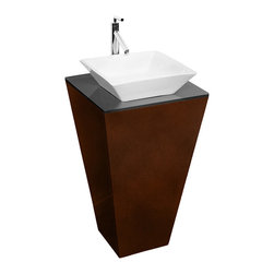 Wyndham - Esprit Custom Bathroom Vanity Set - Espresso - Architectural and dramatic, this original Wyndham Collection makes a beautiful powder room centerpiece. Several counter and sink options allow a range of looks for a better level of personalization.