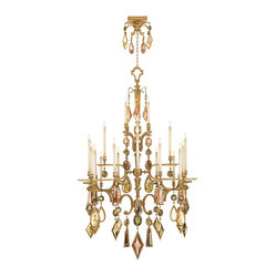 Encased Multi-colored Gems Chandelier, 714640-1ST