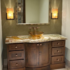 Contemporary Powder Room by Astleford Interiors, Inc.