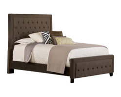 Hillsdale Furniture - Hillsdale Kaylie Upholstered Panel Bed in Pewter - King - Tall, elegant, and impactful, the Kaylie Bed is ready for royalty. With its statuesque headboard and compact footboard, button and tuck styling, and inviting microfiber fabric, the Kaylie Bed is a statement in luxury.