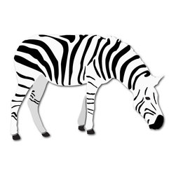 My Wonderful Walls - Zebra Stencil for Painting - - 2-piece zebra wall stencil for jungle theme wall mural