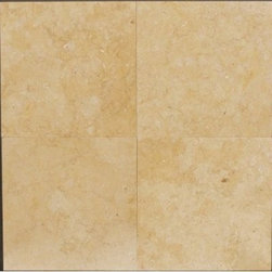 "Jerusalem Gold Marble Polished Floor Tiles 12"" x 12"" - Lot of 20 Tiles - 12"" x 12"" Jerusalem Gold Marble Tiles."