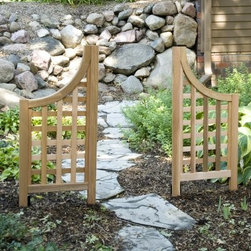 Arboria Andover Side Wings - The Arboria Andover Side Wings can be used alone or as a complement to the Andover trellis. The lattice panel offers privacy and is a great way to decorate any yard patio or garden. This trellis wing is constructed of Western Red Cedar which is naturally resistant to moisture and insects. Leave the cedar wood as it is to enjoy a natural weathered grey patina over time or treat with a weather-resistant stain or clear coat to conserve it's original beauty. The Andover Side Wing is solid and well made for years of service. The side wing trellis is fully assembled. Ground stakes are included with this trellis and they can be secured with concrete if necessary.
