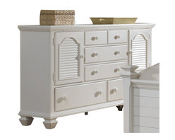 Broyhill - Broyhill Mirren Harbor 5 Drawer 2 Door Dresser in White - Broyhill - Dressers - 4024232 - About This Product: