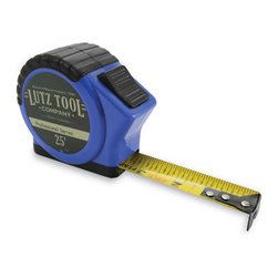 Lutz - Lutz Pro 25' Tape Measure, Blue - Lutz Pro 25 foot marking Tape Measure is designed for easy use. The cushion grip gives a non-slip surface for holding, a quick-release and locking button requiring minimal thumb motion, movement and fraction marks intended for quick distance reading. Available in yellow or blue.