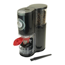 SOLOFILL - Solofill Sologrind 2-in-1 Automatic Single-Serve Burr Grinder - 2-in-1 grinder with interchangeable single serve coffee adapter & ground coffee container;