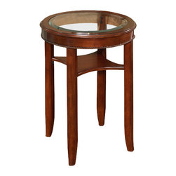 All Things Cedar - Glass Tea Table - Classic Accents: A truly inviting selection of Classic Accent Furniture FEATURING Console Sofa Tables Wooden Wine Magazine Racks, Nesting Tables, and Glass Cherry Curio Cabinates. Item is made to order.