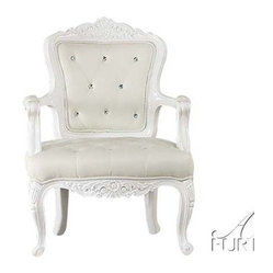 ACME Furniture - Pascal White/White Traditional French Accent Arm Chair - 59130