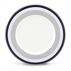 kate spade new york - kate spade new york Mercer Drive Saucer - With a dash of blush pink, navy, soft greys and encircled with platinum bands our Mercer Drive Saucer by kate spade new york is accentuated with geometric designs that straddle the line between fun and formal. Crafted in bone china the saucer shapes up special occasions with chic style.