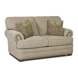 Custom Express - Tidwell Loveseat - Available in an easy to maintain chenille fabric, our Tidwell loveseat offers comfort and quality at a great price. 2 throw pillows in self fabric included.