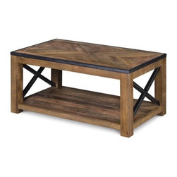 Magnussen - Magnussen Penderton Wood Small Rectangular Coffee Table in Sienna - Magnussen - Coffee Tables - T238643 - About This Product: