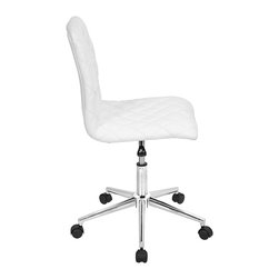 "Lumisource - Tesla Office Chair, White - 19""L x 17.5 W x 33"" min. H / 38"" max. H"