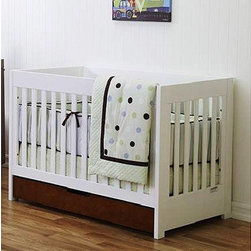 Baby Mod 3-in-1 Convertible Crib - This sleek, two-tone crib looks a lot like some very expensive other options out there. We purchased it for our nursery, added some modern bedding, and wahlaaa, modern boutique baby look for a fraction of the price.