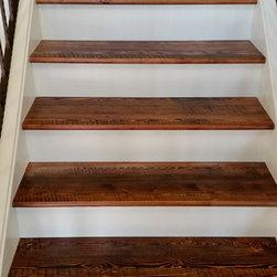 Douglas Fir Flooring - Rustic Doug Fir stair treads