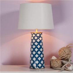 Colorful Quatrefoil Table Lamp - How cute would this quatrefoil lamp be in a little boy's room or a nursery? It would add a perfect amount of color and detail without being over the top.