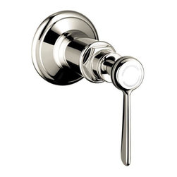 Hansgrohe - Hansgrohe Axor Montreux Volume Control Trim with Lever Handle (16872831) - Hansgrohe 16872831 Axor Montreux Volume Control Trim with Lever Handle, Polished Nickel
