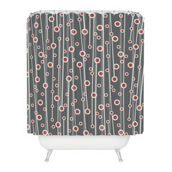 Heather Dutton Berry Branch Shower Curtain - Stylized berry branches dance across the face of this handsome shower curtain, adding a welcome note of style and sophistication to the bath. Made of machine-washable polyester, so it'll stay looking fresh, shower after shower.