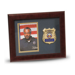 Police Department Portrait Picture Frame - 10-Inch by 12-Inch First Responder Portrait Picture Frame