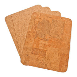 The Felt Store - Agglo Table Mat - Rectangle, 400 X 300 X 3mm - The Felt Store's Agglo Table Placemat - Rectangle adds an eco-friendly twist to your table! This product is truly versatile as it is reversible to display either the contemporary fine grain cork or turn it over for the exotic look of agglo cork! This Cork Placemat is rectangular in shape and measures approximately 16 inches long, 12 inches wide and 0.10 inches thick. These Cork Placemats will bring natural and unique beauty to your table! This package contains 4 cork table mats. This product can be wiped clean with a damp cloth.