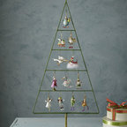"Patience Brewster - Patience Brewster ""12 Days of Christmas"" Mini Display Tree - Mini display tree holds all of the ""12 Days"" mini ornaments. Decorate the tree all at once for a beautiful display, or add an ornament as each of the 12 days passes. Handmade and hand painted. Display tree is made of metal; 17""W x 38""T. Ornaments ar..."